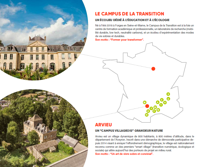 Campus de la Transition et Chateau Arvieu