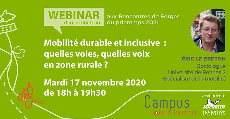 Webinar d'introduction aux Rencontres de Forges sur la mobilité